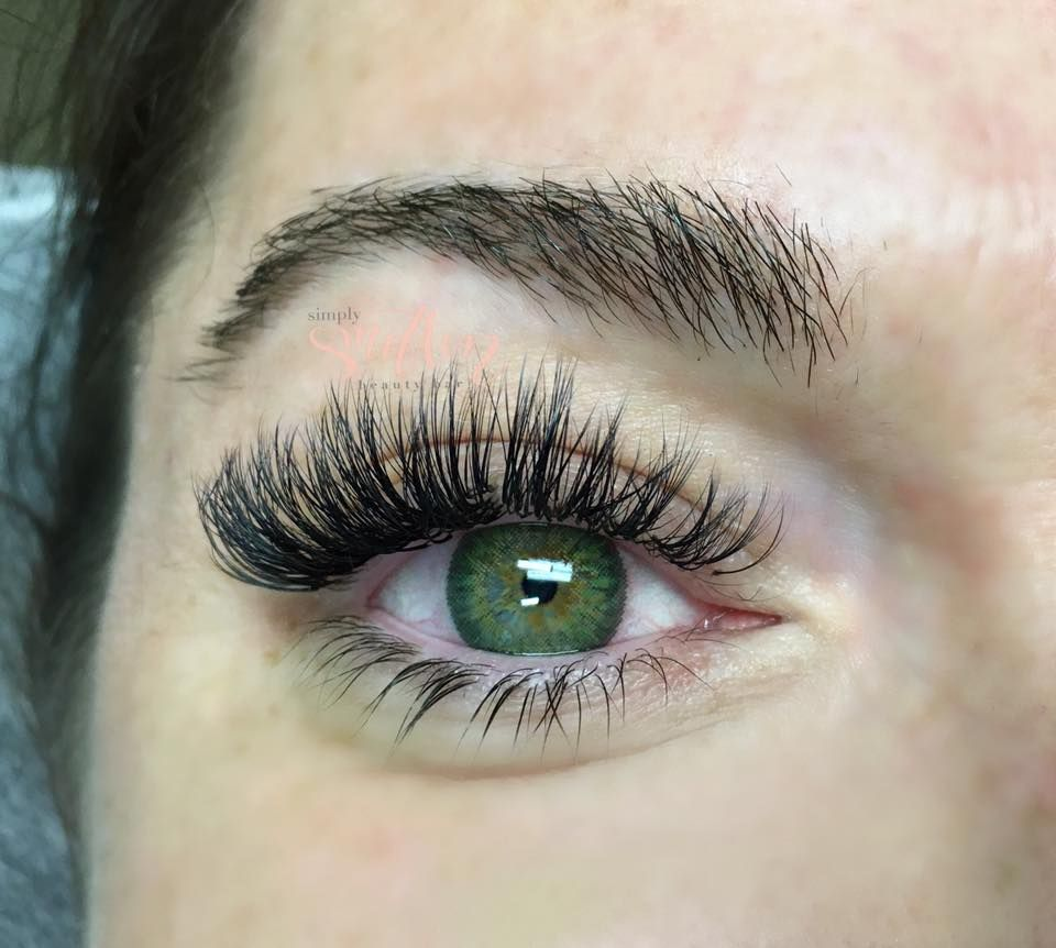 b11cca354f2 Volume Lashes - before & After by Rebecca Jones at Simply Smitten Beauty  Bar in Charleston, SC 843-830-2264 call/text #charleston #charlestonlashes  ...