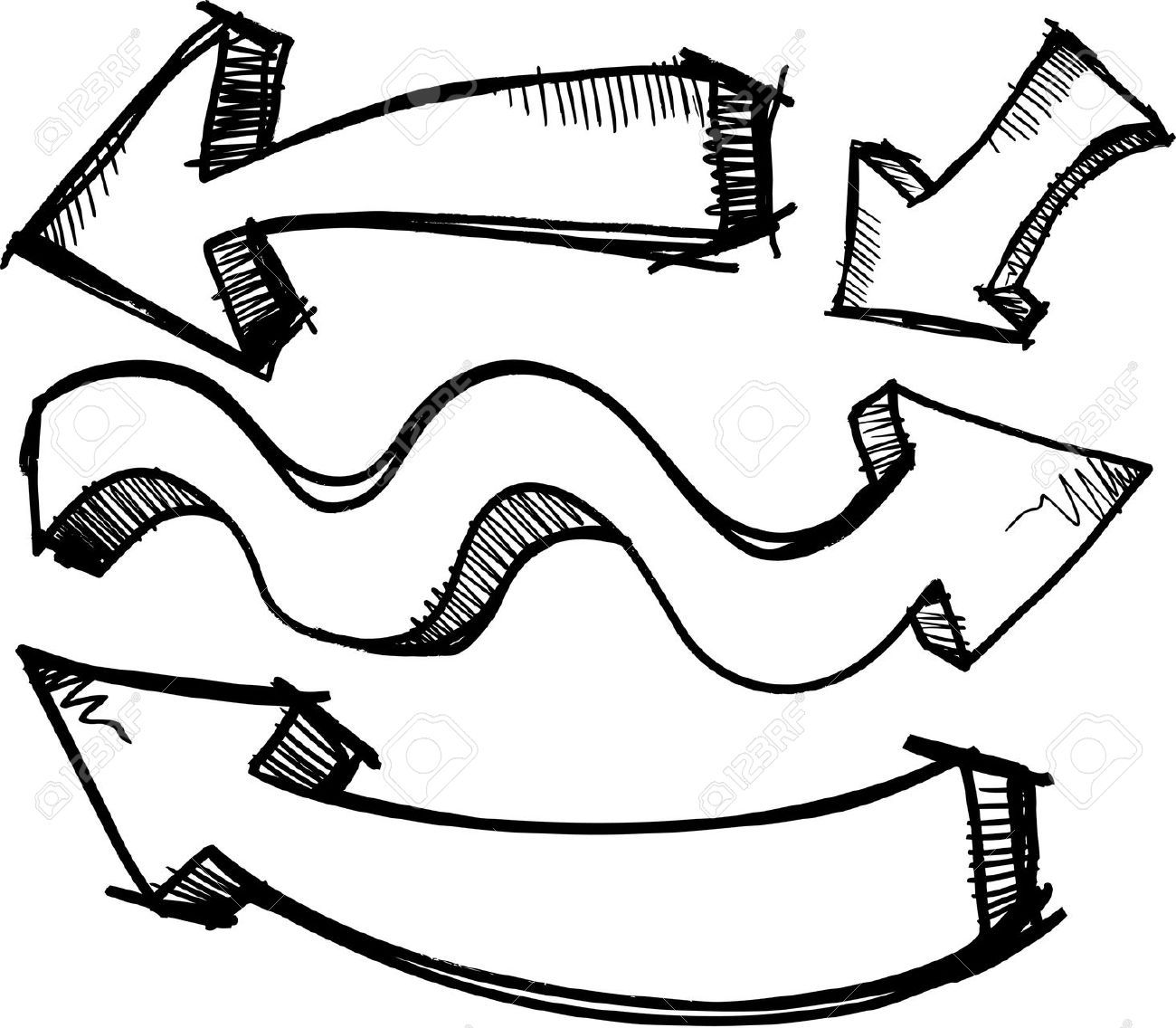 Free Doodle Arrow Clipart