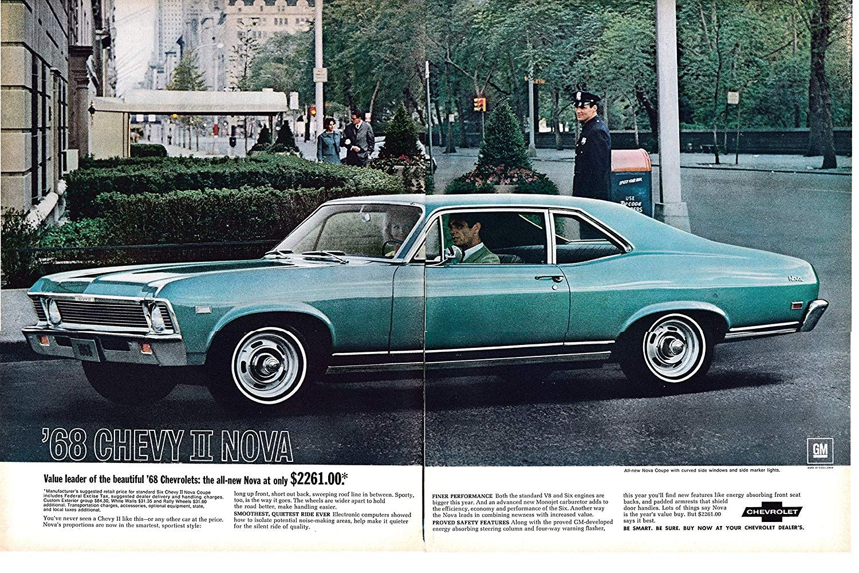 1968 Chevrolet Ii Nova Coupe Original 2 Page 13 5 10 5 Magazine Ad Everything Else Chevrolet Coupe Magazine Ads