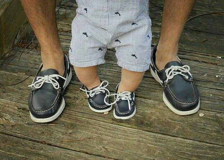 Navy Boat Shoes Matching Outfits Pinterest Daddy And Son
