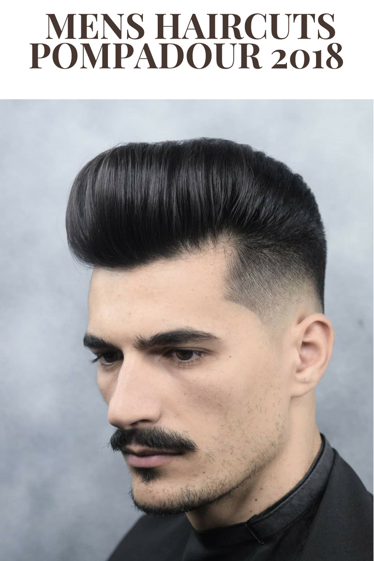 Top 50 Mens Haircuts 50 Pompadour + Fade Check out our gallery ...