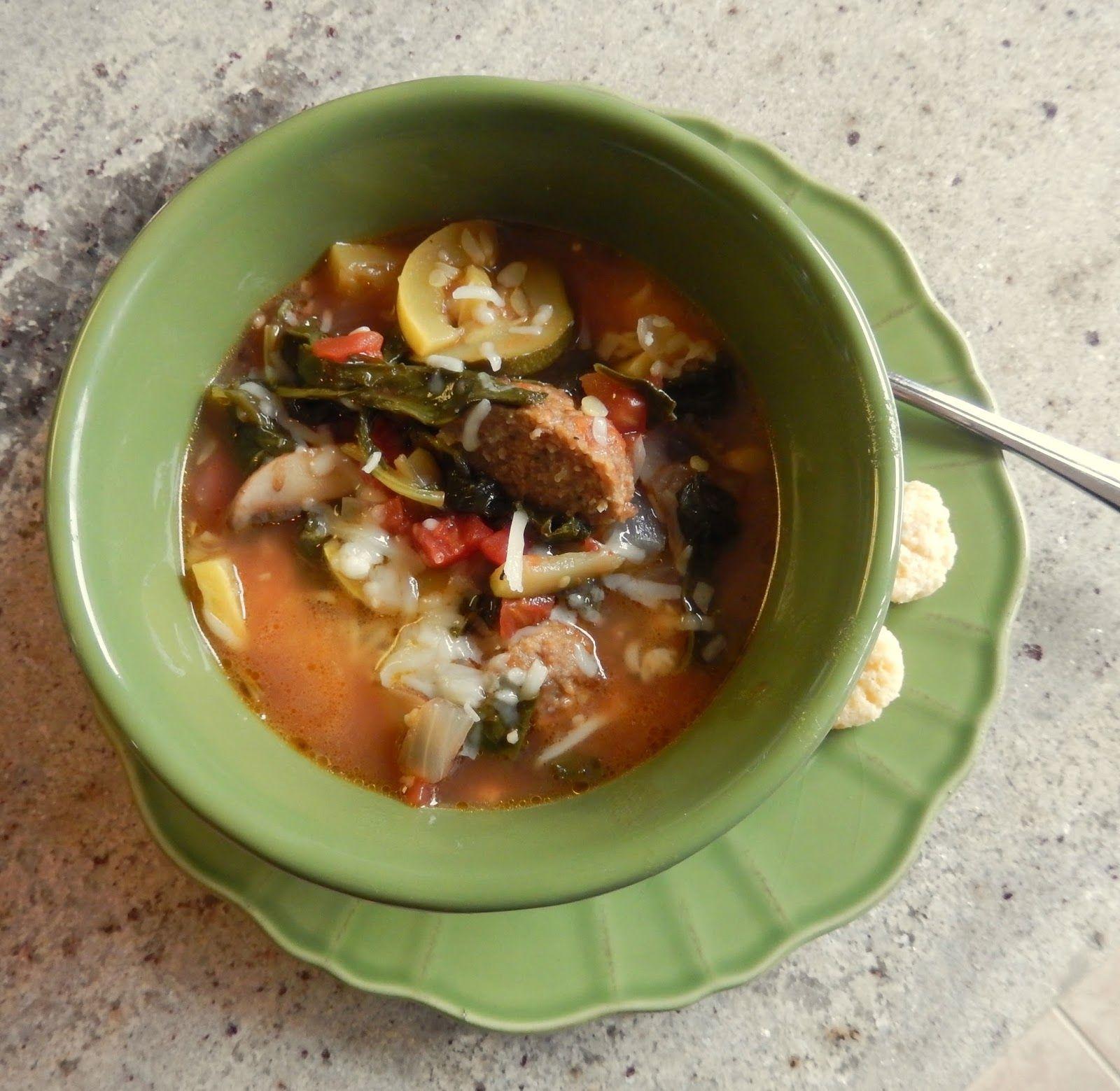 Healthy Soup Recipes: Rainy Day Meatball Garden Soup | Warm feeling ...