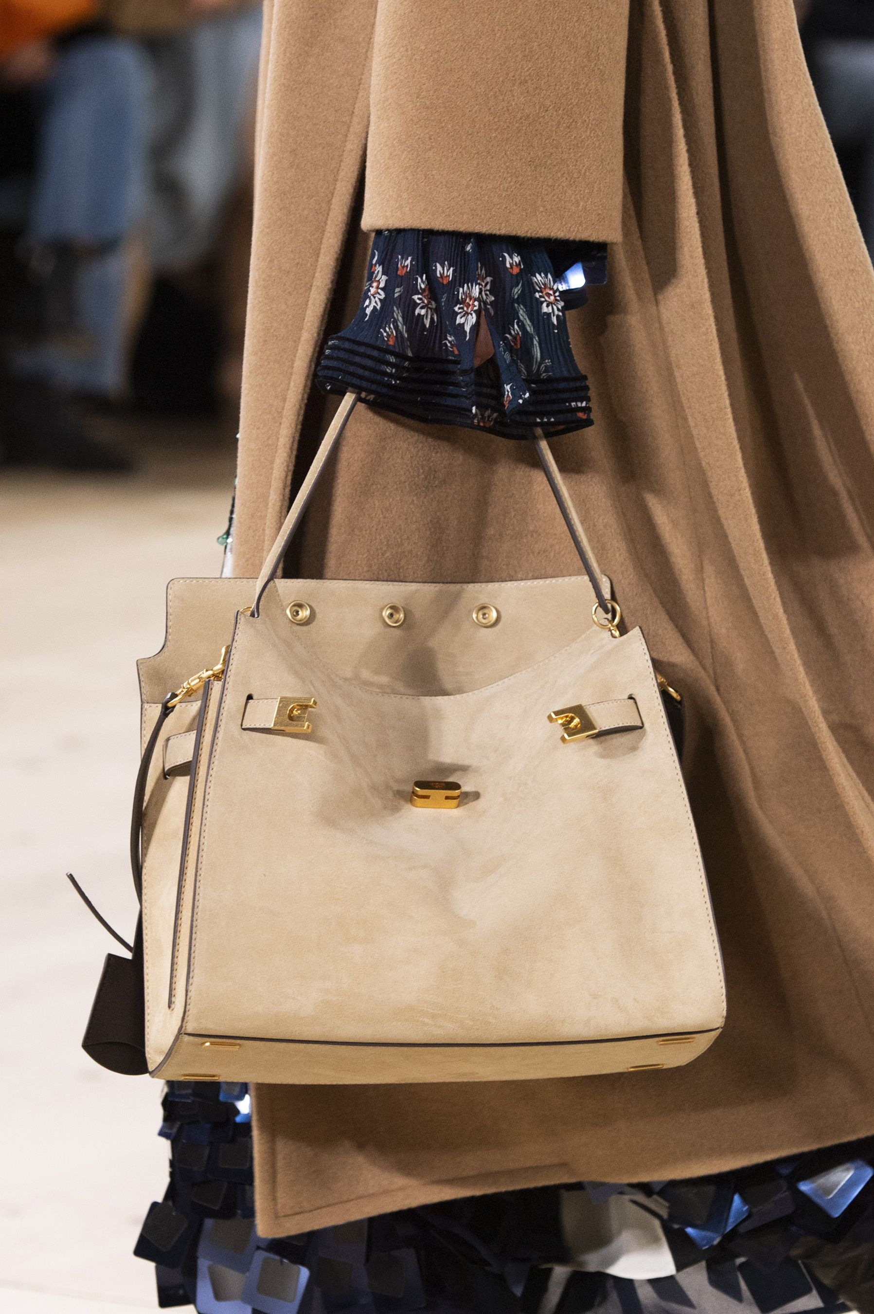 831e84ed73 Tory Burch Fall 2019 Fashion Show Details Leather Bags, Suede Leather, Tory  Burch,