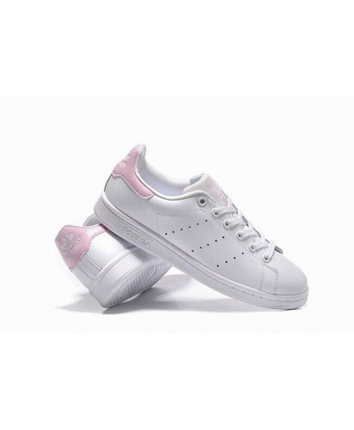 hot sale online 471dd 3dcde Adidas Stan Smith Junior White Pink Trainers | stan smith ...