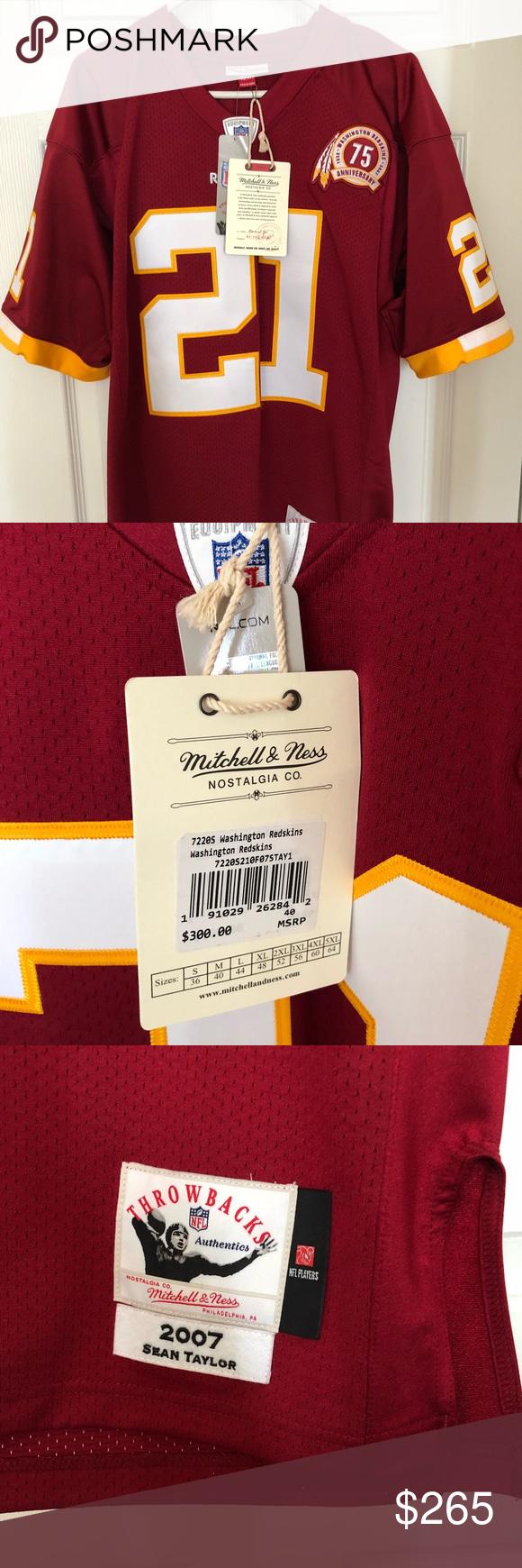 wholesale dealer 0cf56 0064c Mitchell and Ness authentic Sean Taylor jersey NWT ...