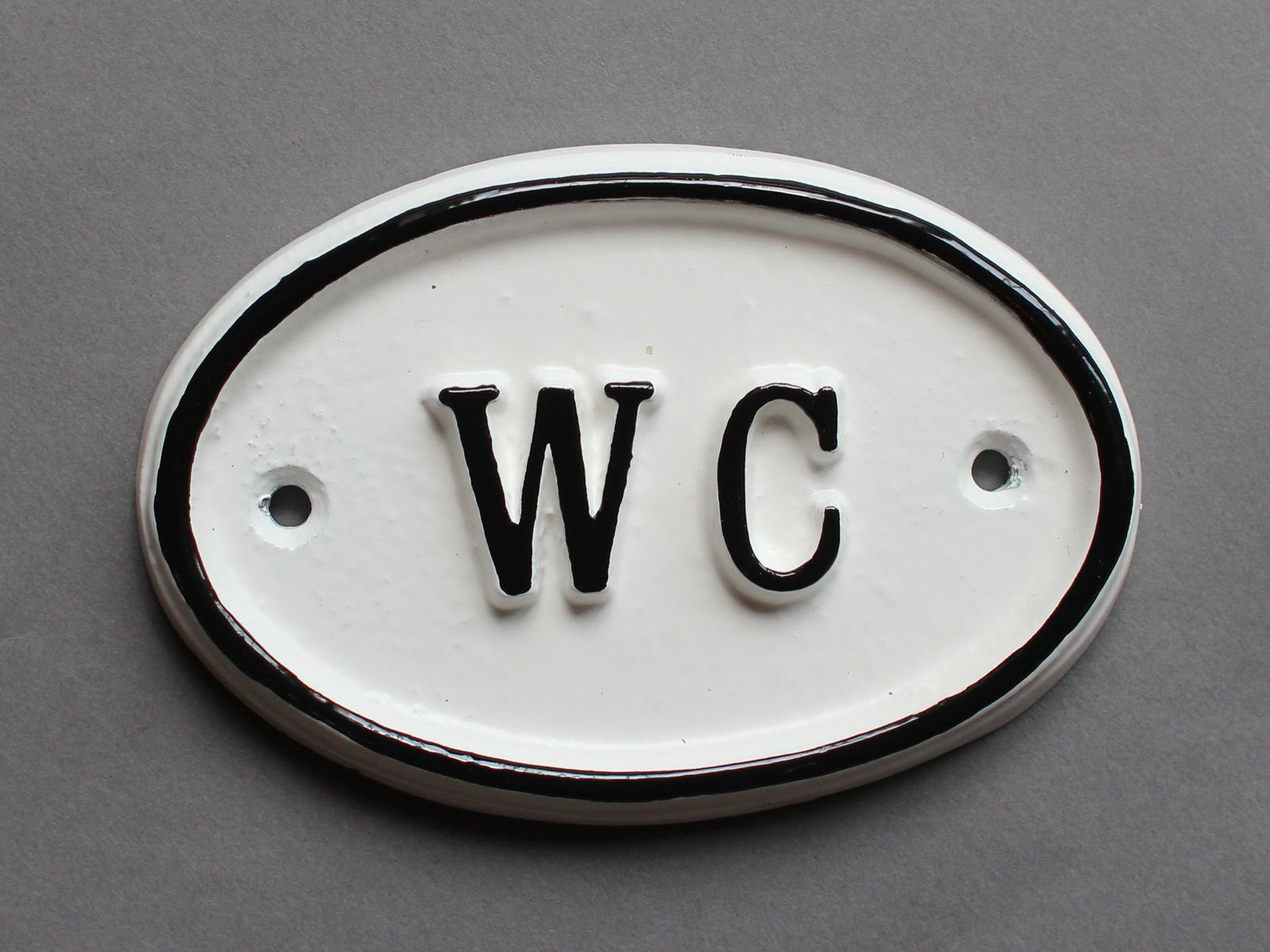 Bathroom sign for home - Wc Old Railway Toilet Door Sign
