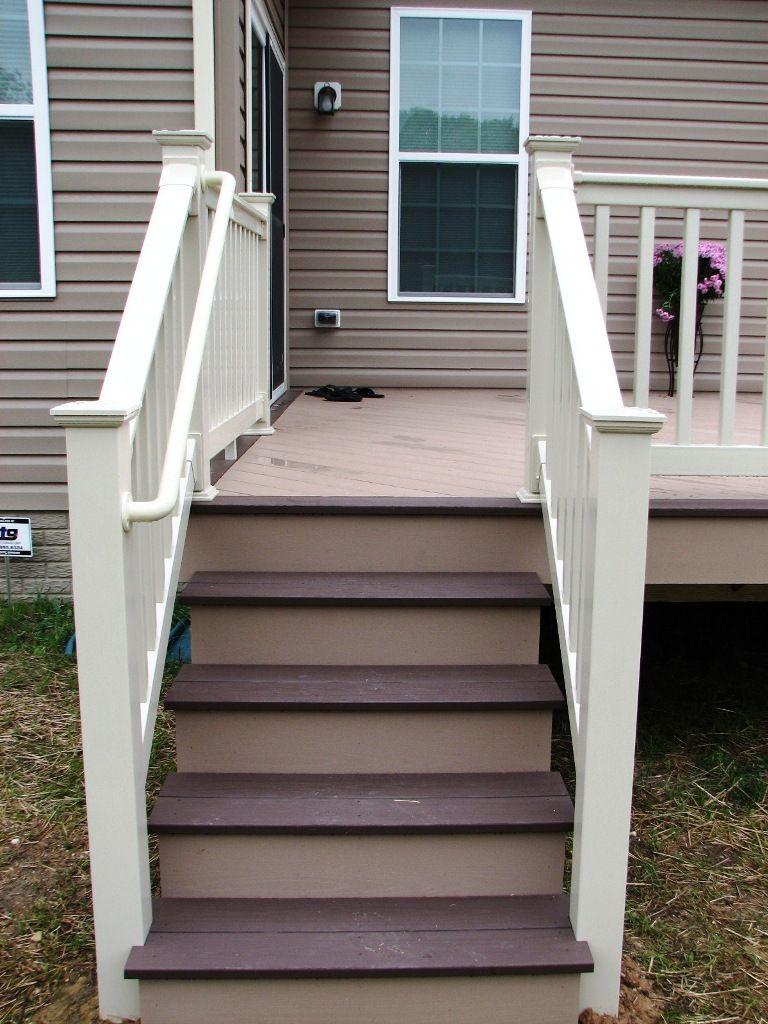 Azek Brownstone Kona Deck Steps And Longevity Tan Pvc
