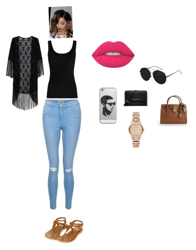 Untitled #197 by hodges473 on Polyvore featuring polyvore fashion style Twenty New Look Topshop MICHAEL Michael Kors Burberry Casetify Lime Crime clothing