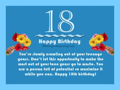 Happy 18th Birthday Wishes To A Friend