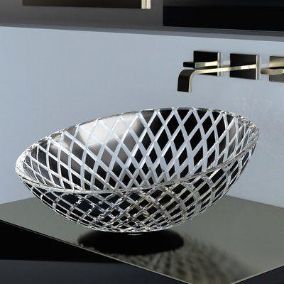 Maestrobath Glass Handmade Circular Vessel Bathroom Sink Wayfair In 2020 Bathroom Sink Design Bathroom Sink Glass Design