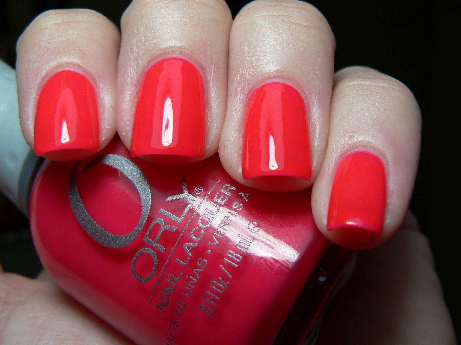 Orly Passion Fruit Black Shatter Nail Polish Beauty Nails
