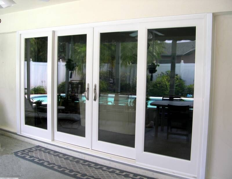 8 ft sliding glass door sliding door double wide sliding for Double sliding doors exterior