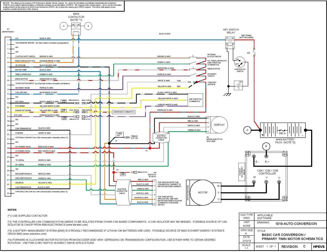 Electric Vehicle Wiring Diagram Hybrid Car Electric Car Conversion Electrical Wiring Diagram