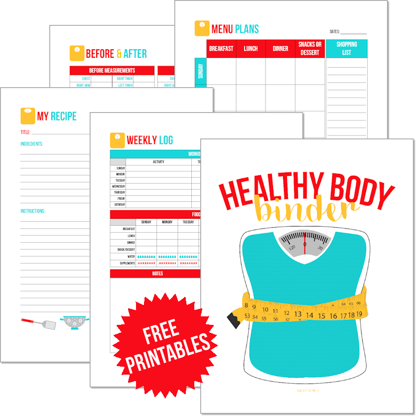 Get Your FREE Healthy Body Binder Printables