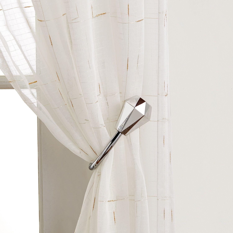 Lc Lauren Conrad Reid Chrome Window Curtain Tie Back Conrad