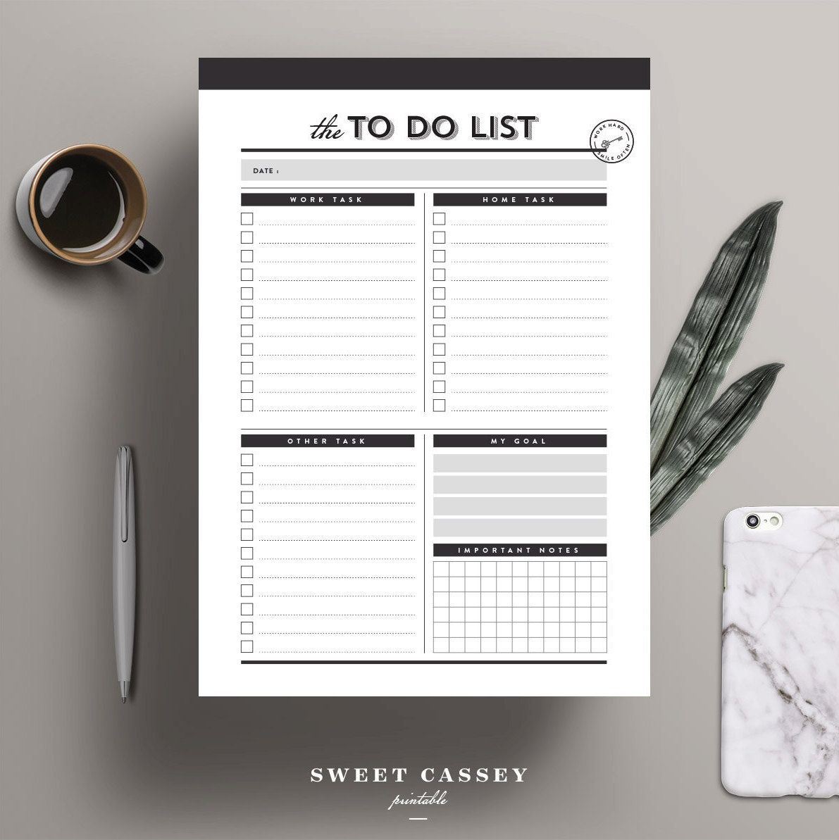 To Do List Printable PlannerA Planner A PlannerProject