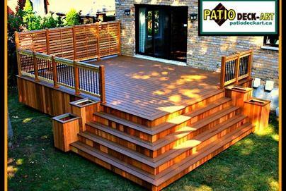 Rampe de patio recherche google cours arri re for Plan de patio exterieur en bois