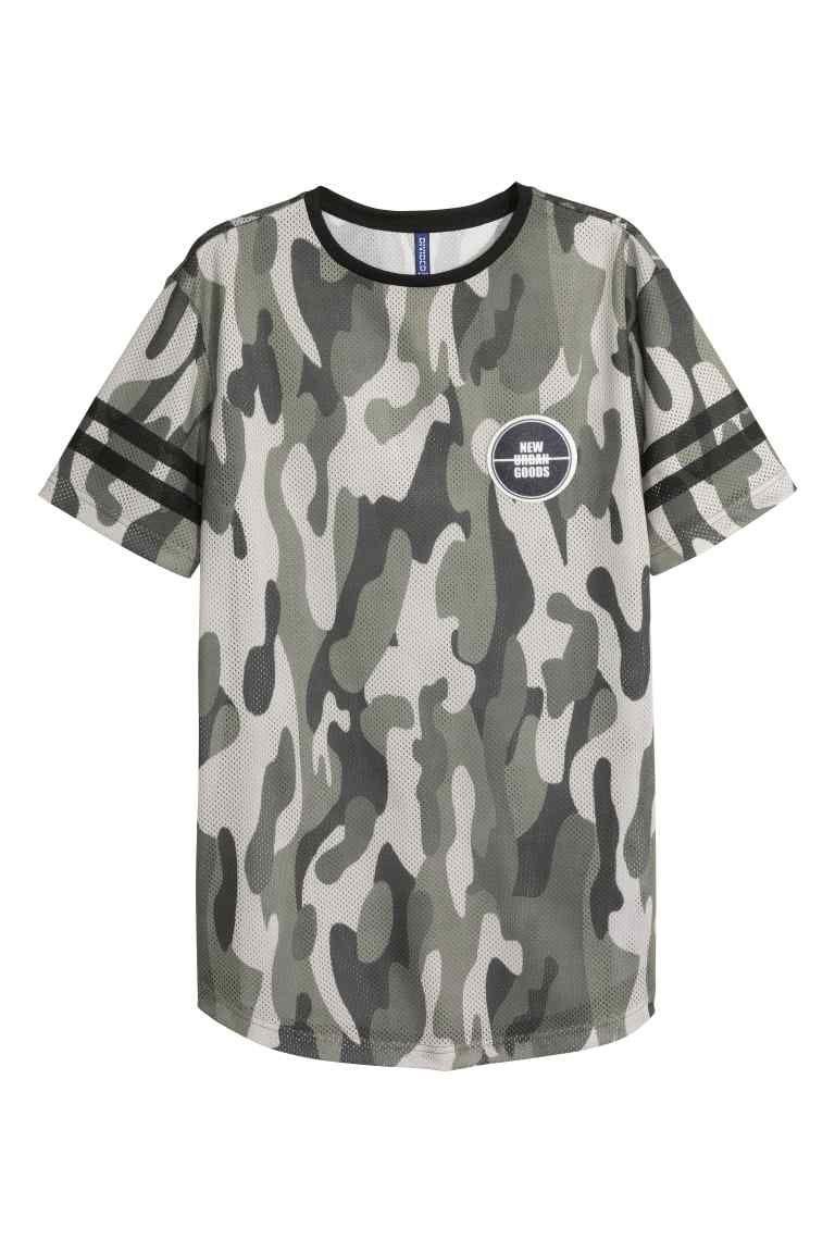 T-shirt em mesh | H&M