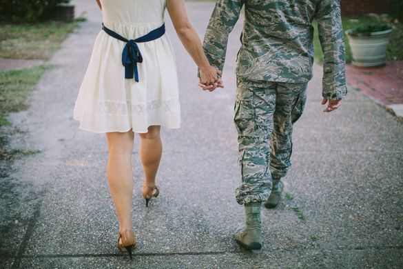 Militarythemed  Beach Engagement Session  Biloxi MS military engagement photos near Keesler Air Force Base