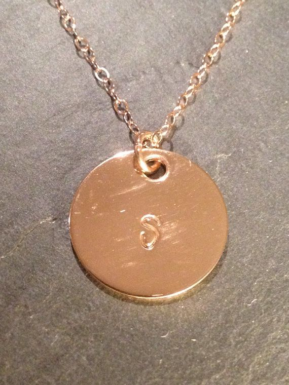 Rose Gold Hand stamped Mommy Necklace Doesnt Tarnish Hand