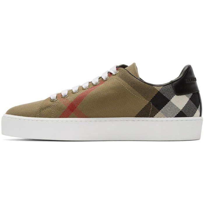 BurberryTonal Check Sneakers inrFSWF