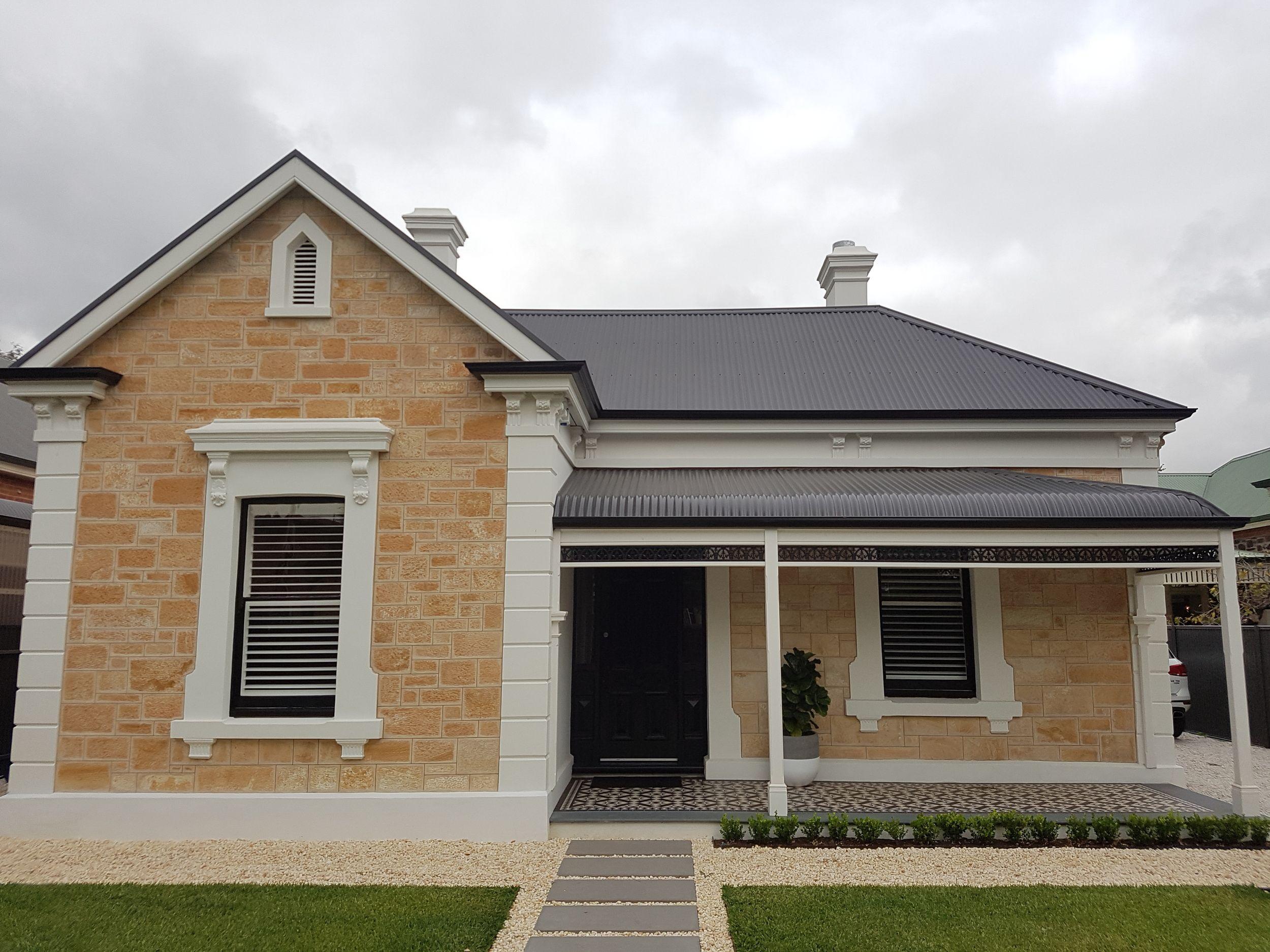 Bullnose Verandah Fascias And Guttering Unley Green Roof System Garage Door Design Roof Architecture