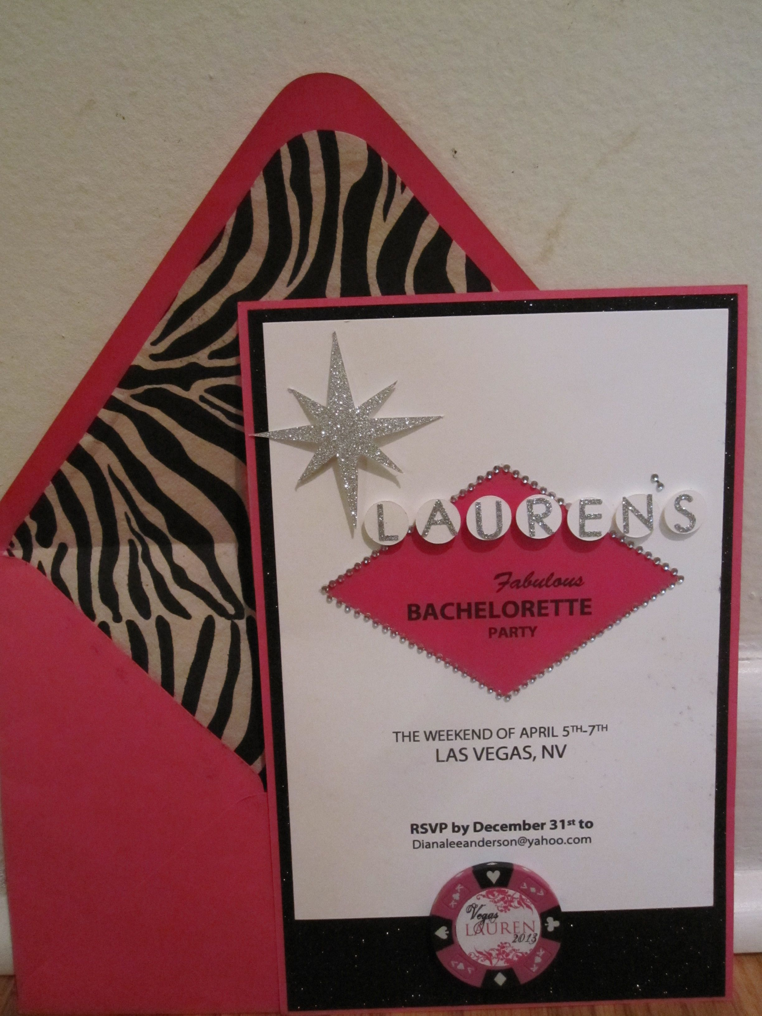 Vegas Party Invitation: 3 layers that combine digital printing ...