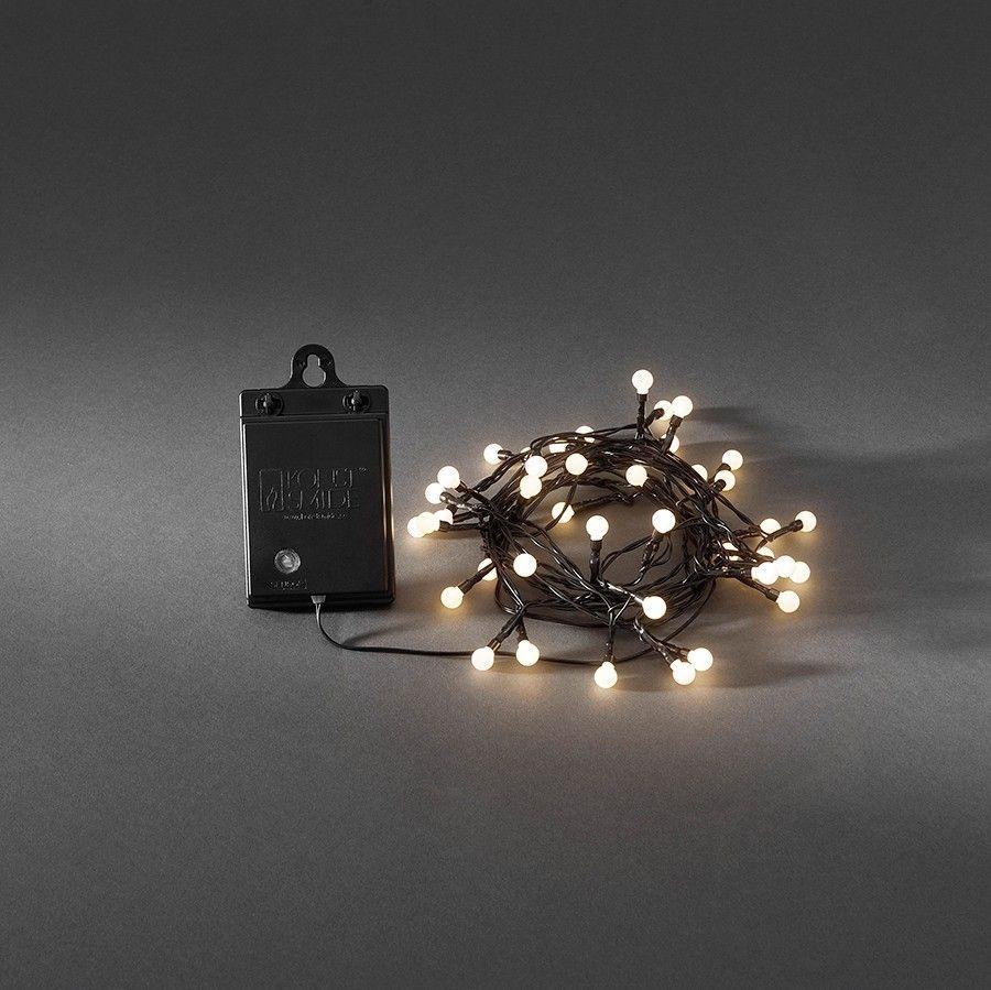 Inredning led belysning altan : Batteridrevet LED Lysslynge Sensor 40 Lys - Slynger - Utendørs ...