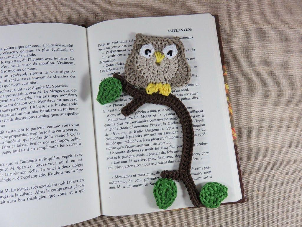 Owl bookmarks owl bookmark crochet books decoration hand made crocheted child kawaii jewelry - Decoration au crochet ...