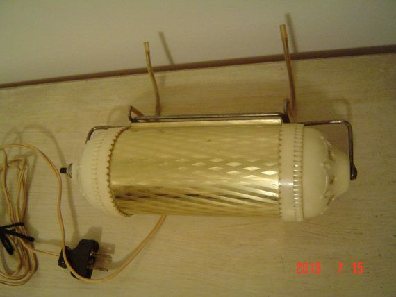 Vintage  Shabby Chic Hanging Headboard Lamp Light by PennyBunny, $29.00