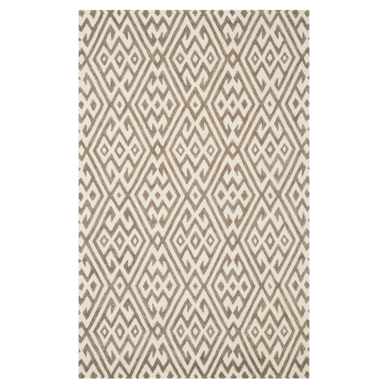 Safavieh Cambridge Cam401a Area Rug Ivory Gray Size 8 X 10