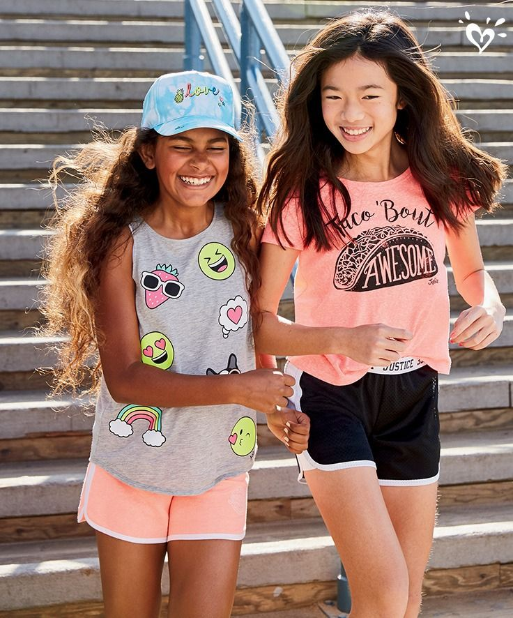 Spring Break must-haves: playful shorts and make-you- smile graphic tops!