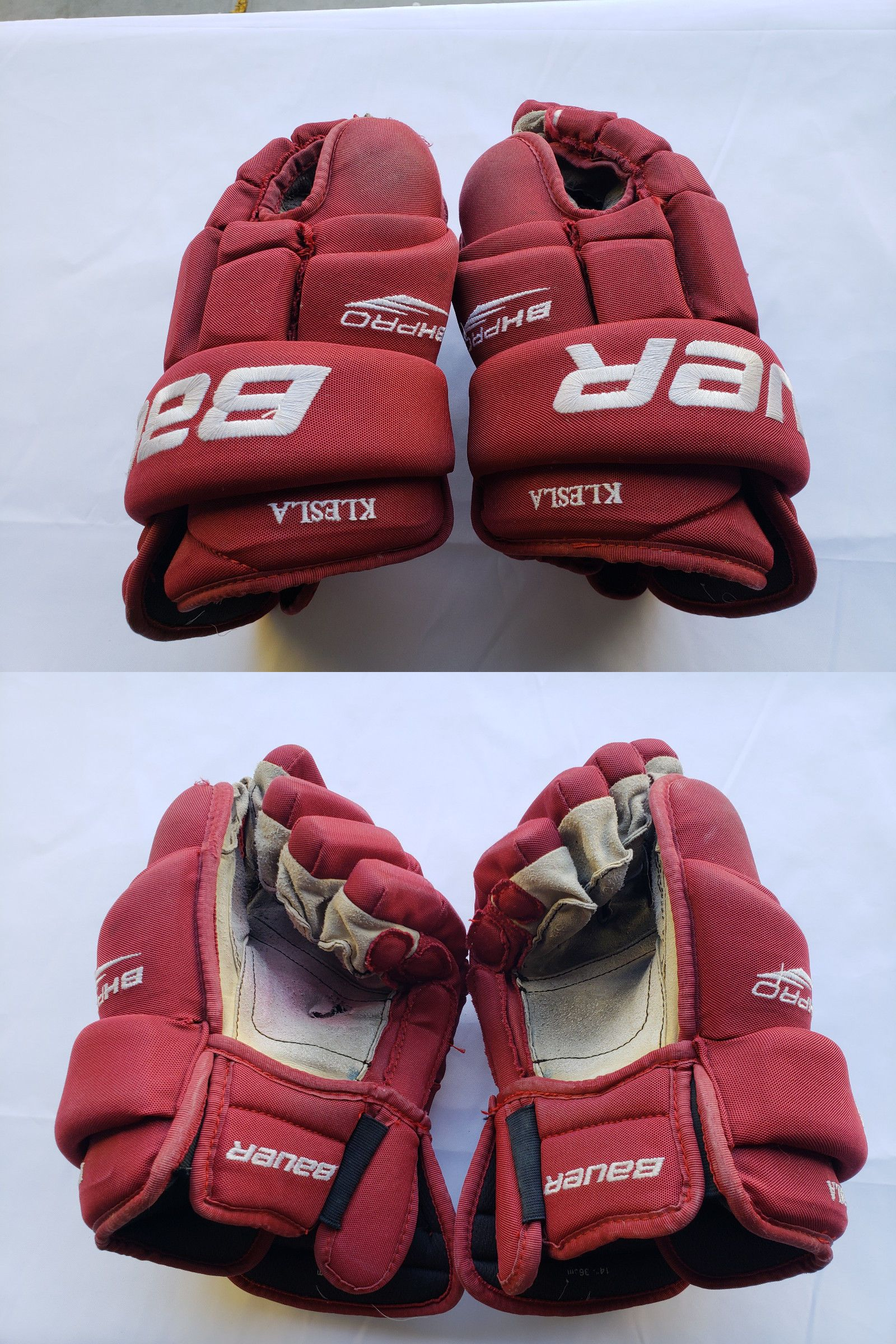 ac6684f1066 Clothing and Protective Gear 20855  Bauer Pro Stock Hockey Gloves Size 14  -  BUY IT NOW ONLY   30 on eBay!