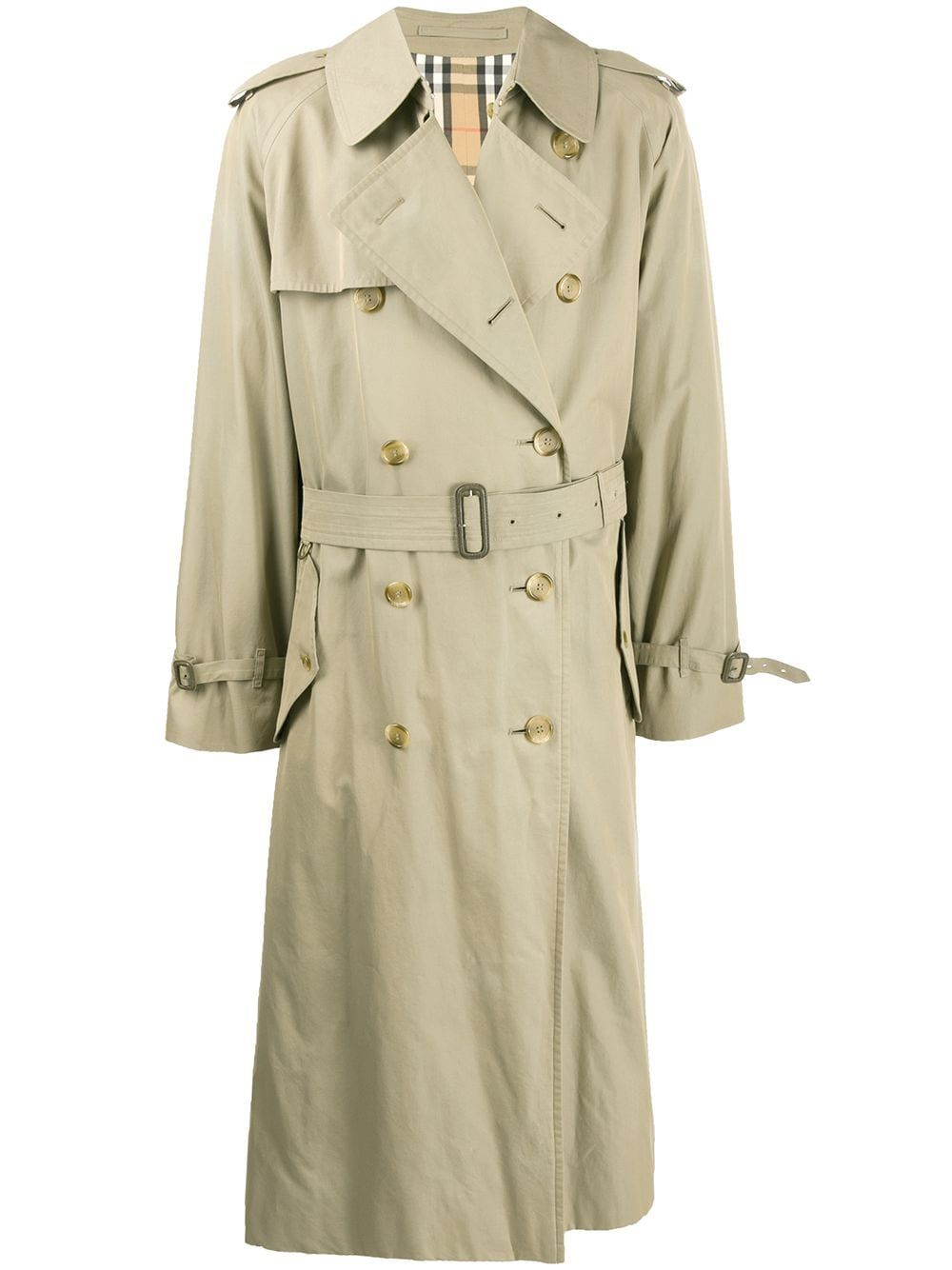 Burberry Pre Owned 1990s Long Trench Coat Farfetch Long Trench Coat Trench Coat Long Trench