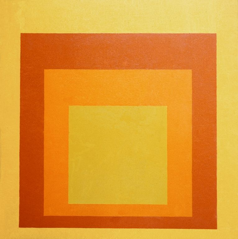 cavetocanvas:  Homage to the Square:Auriferous- Josef Albers, 1955