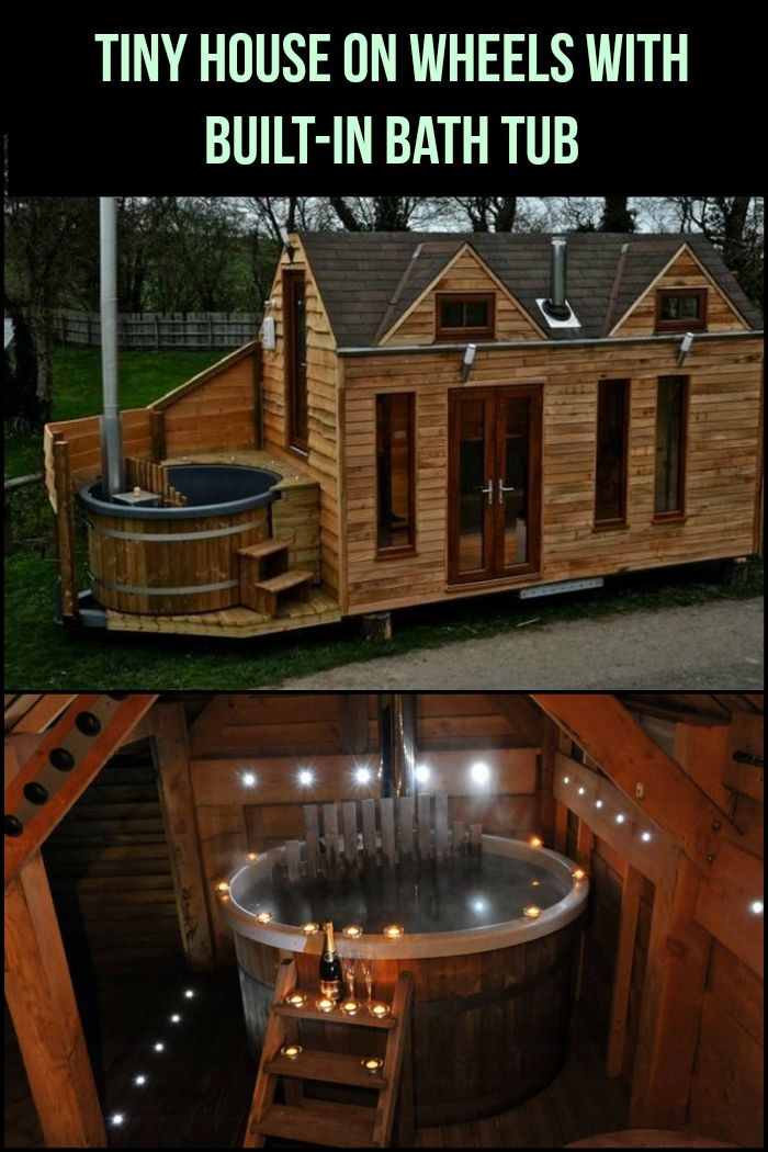 This amazing tiny house on wheels has its own built-in bath tub ...
