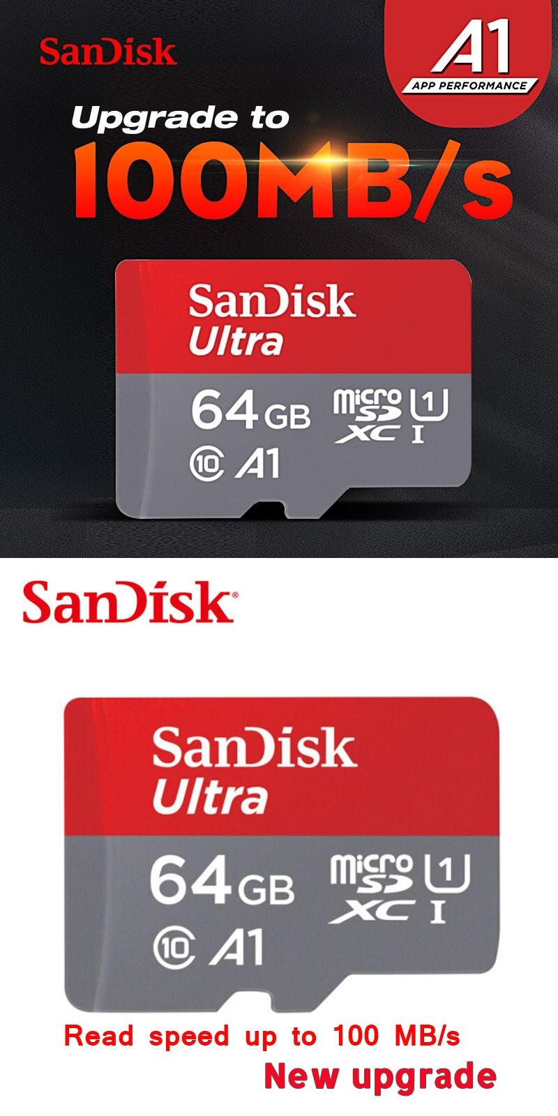 New Products Sandisk Micro Sd Sdhc Or Sdxc Uhs I Memory Card 64gb Microsd 4gb 100mb