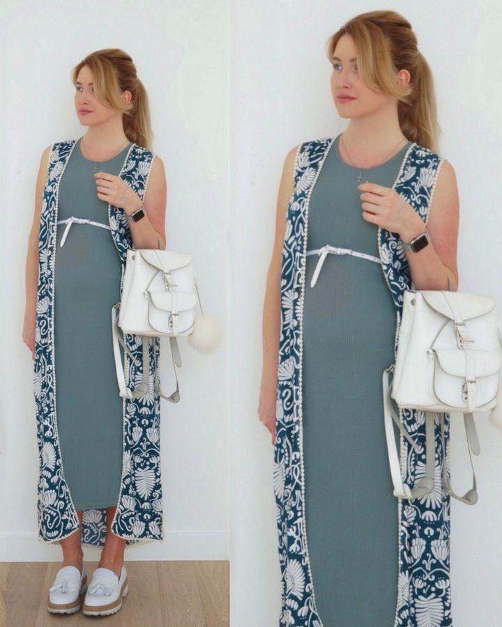 0bb523076d6 С чем носить длинное трикотажное платье беременной