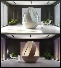 Doccia Futuristica a forma di Uovo