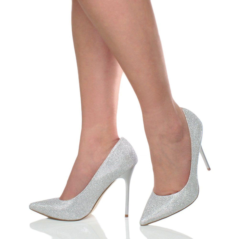 Chic Bout Pointu Talons Hauts Stilettos Escarpins Pointus pour Femme Chaussures Femmes Fête Taille