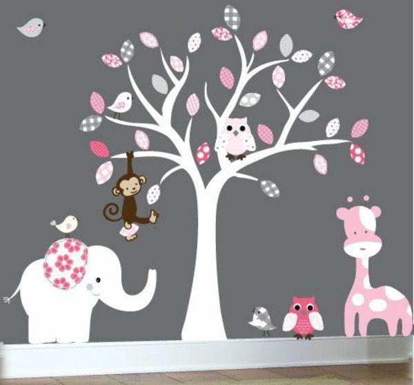 Kinderzimmer gestalten wand tiere  Babyzimmer Gestalten - süße Tier Muster für Ihre Kleinen ...