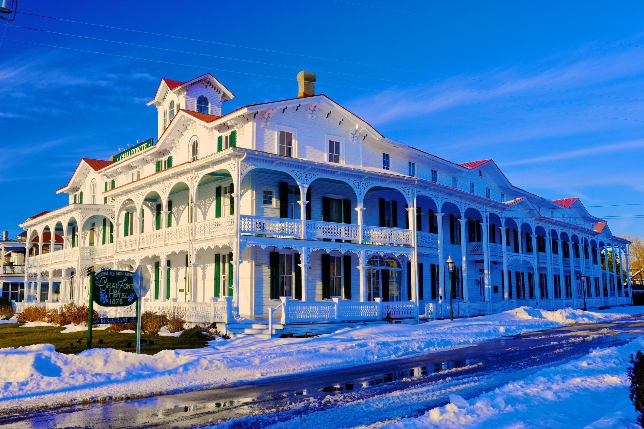 Cape May Hotels >> Cape May S Chalfonte Hotel In The Snow Winter Cape May