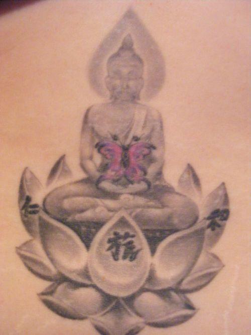Thai Buddha Tattoos My Tattoos Lower Back Thai Buddha Lotus