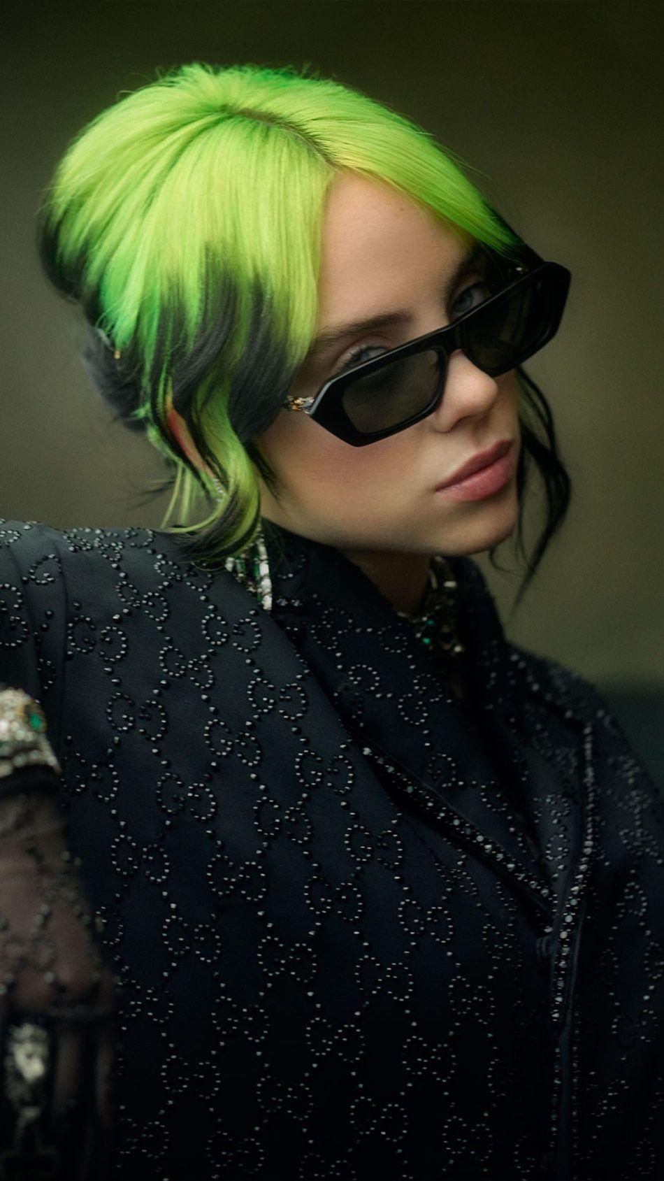Singer Billie Eilish Green Hair 4k Ultra Hd Mobile Wallpaper In 2020 Billie Eilish Billie Green Hair