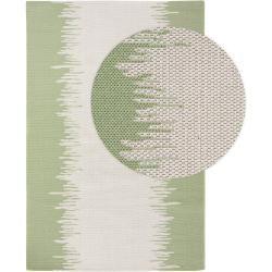 Photo of benuta Waschbarer Baumwollteppich Cooper Cream/Grün 230×320 cm – Moderner Teppich für Wohnzimmer ben