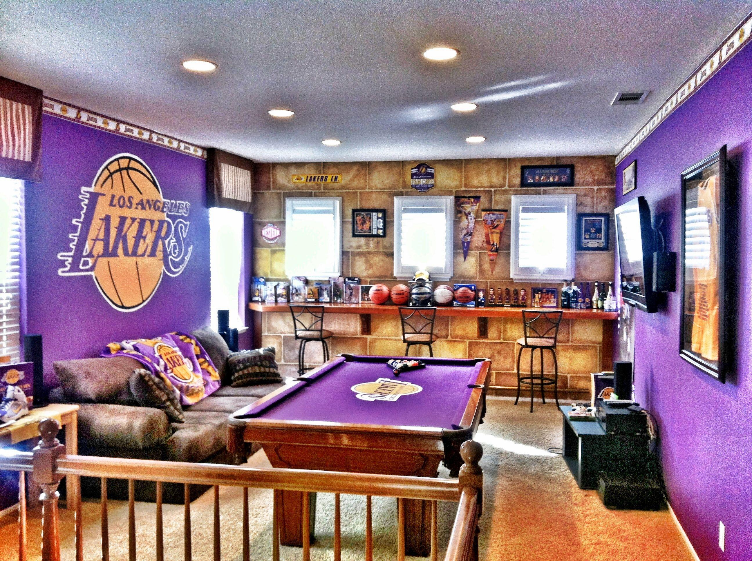 Lakers Man Cave Basketball Bedroom Decor Basketball Bedroom