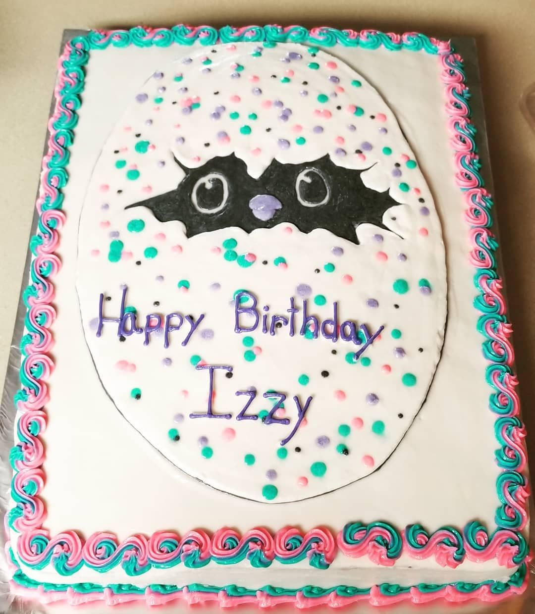 First Request For A Hatchimal Cake Happy Birthday Izzy Girl Hope You Love Your Adornconstancecookies Hatchimals Hatchimalcake