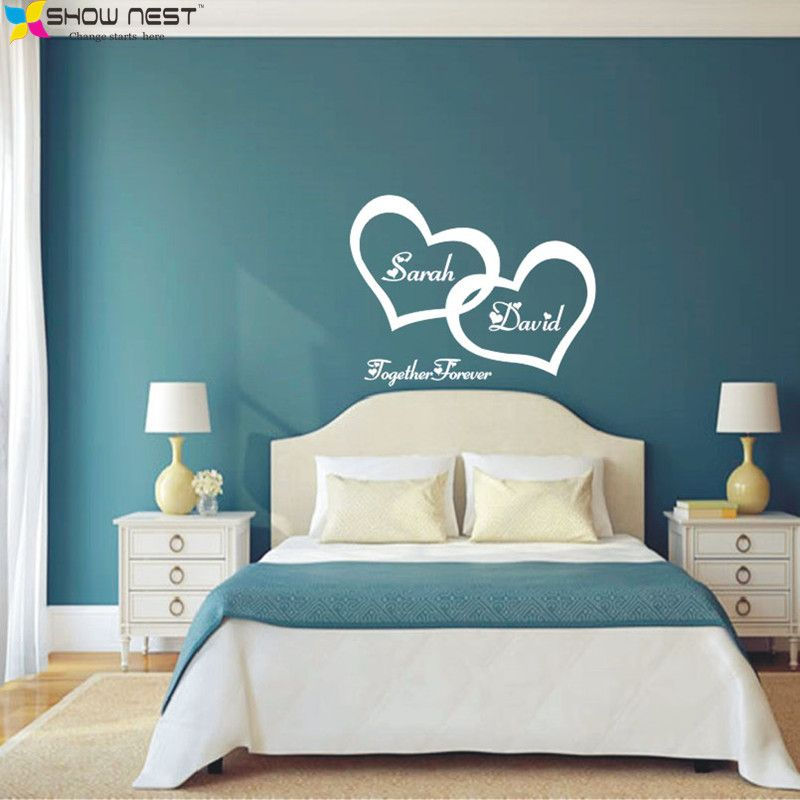 best price symbol of love forever wall sticker double heart custom