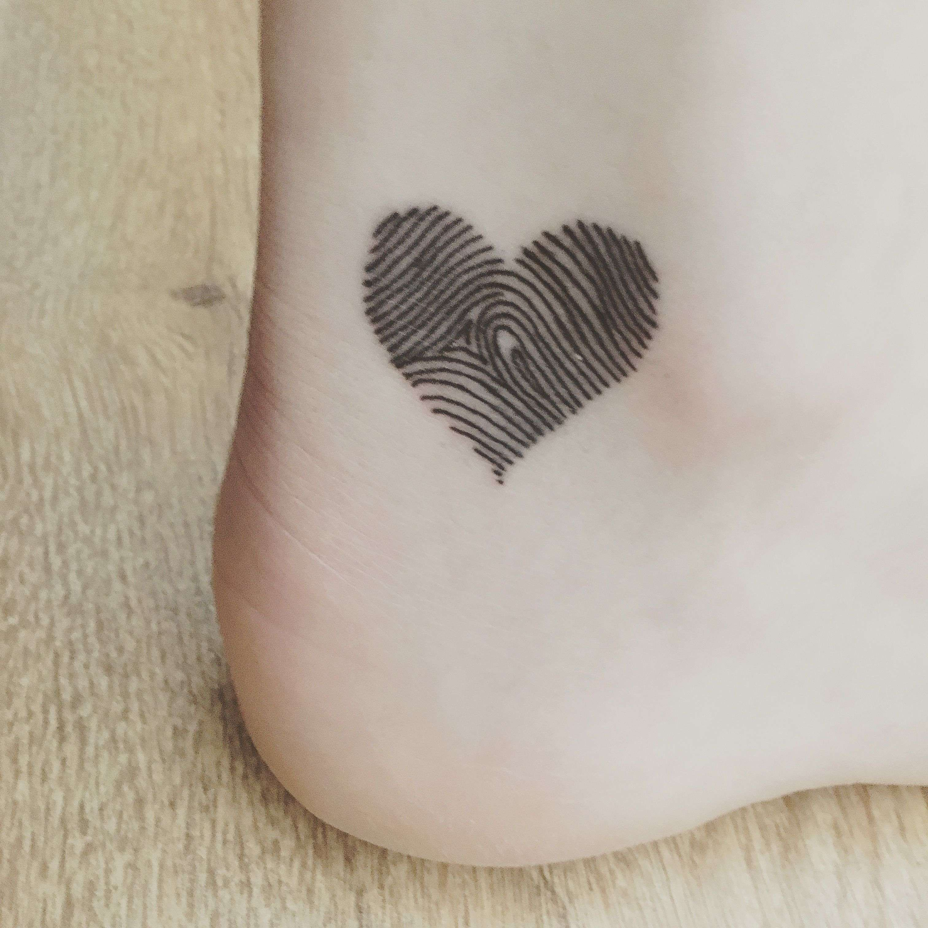 Photo of Amazing Perfectly Love Tattoos for Couples Luxury Heart Shaped Fingerprint Tatto…