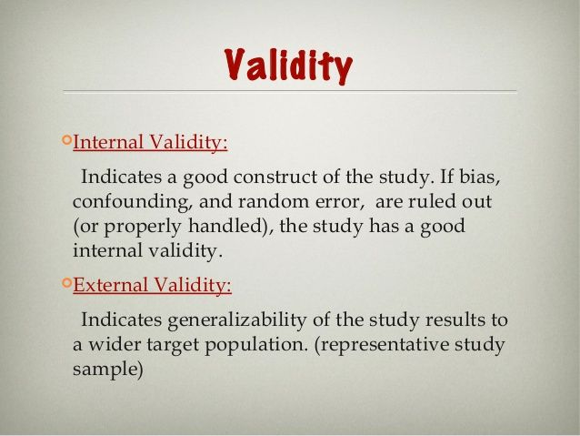 Image Result For Briefly Define Internal And External Validity